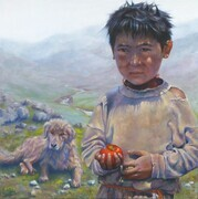""" Boy with Apple - Tibet """